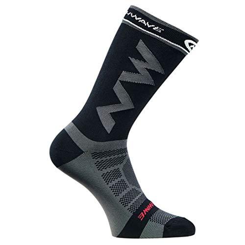 Calcetines Largos de compresión para Hombres Adultos Transpirables Calcetines de fútbol cálidos Baloncesto Deportes Antideslizante Ciclismo Escalada Correr Calcetines (ToGames)