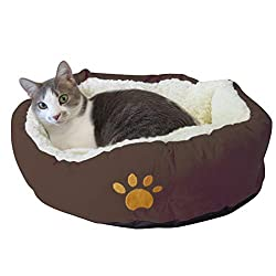 Doughnut-shaped Bed for American Bobtail Cat