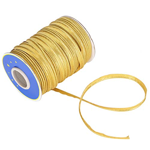 Lafey Sewing Braid, Sewing Trims Bias Tape, Piping Bias Tape zum Säumen von Kleidung Making Sewing Piping(Golden)