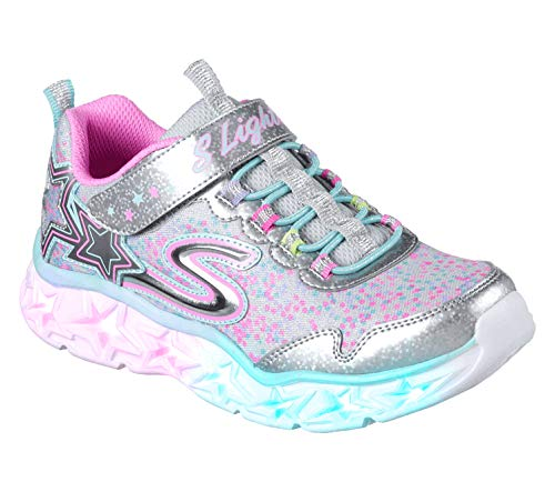 Skechers Girls 10920L Trainers, Multicolour (Silver/Multicolour), 13 UK Child (32 EU)