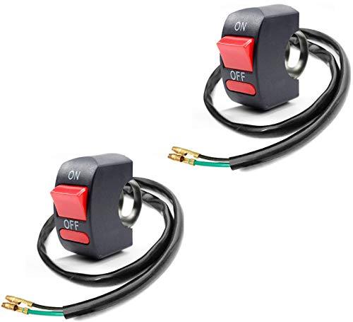 Greluma 2 Pcs Interruptor de Palanca del Manillar de La Motocicleta Interruptor de Botón de Encendido y Apagado Pieza de Ajuste de la Motocicleta de la Bicicleta para U5 LED Faro Scooter Electrombile