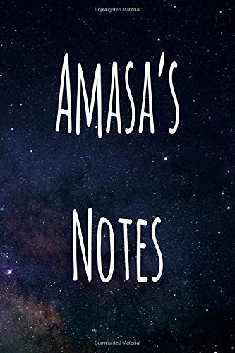 Amasa's Notes: Personalised Name Notebook - 119 Page Journal! Perfect Gift!