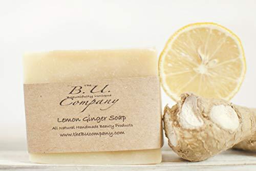 Lemon Ginger Soap 4 pack- All Natural Handmade - 4 oz bar