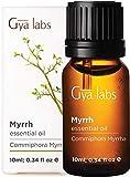 Gya Labs Ätherisches Myrrhe-Öl - Göttliches Verjüngungsmittel für Ausgeglichenheit und Hydrierte Haut (10ml) - 100% Myrrhe-Öl - Ätherische Öle - Duftöl für Aroma Diffuser und Äußerliche Anwendung