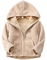Enfants Chéris子供コート 女の子 パーカー 男の子 ジャケット フード付き キッズ 防寒 防風 ボア もこもこ 可愛い アウター 秋冬 厚い 上着 前開き ふわふわ カジュアル 90 100 110 120 130