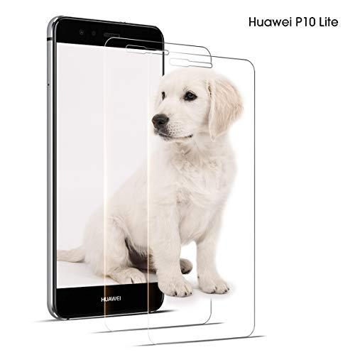 DOSNTO Huawei P10 Lite Pellicola Protettiva, 2Pezzi, Pellicola Vetro Temperato,HD Alta Trasparenza Senza Bolla - Pellicola Vetro per Huawei P10 Lite