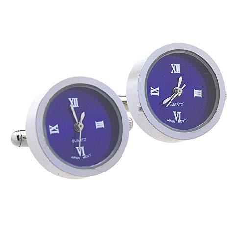 SWXCufflinks Movimiento de Reloj electrónico Nueve Relojes de Cuarzo de Acero Inoxidable Hui Reloj Reloj núcleo de Reloj electrónico Movimiento Manga Mancuernas de uñas