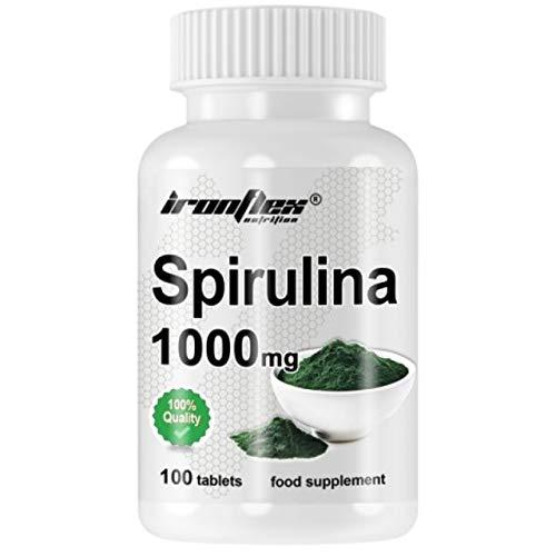 IronFlex Spirulina 1000mg 1er pack x 100 Tabletten - Grünalgen - Detox - Abnehmen