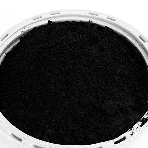 @tec Pigmentpulver, Eisenoxid, Oxidfarbe - 100g (29,90 Euro/kg) im Beutel Farbpigmente, Trockenfarbe für Beton, Epoxidharz + Wand - Farbe: schwarz/black