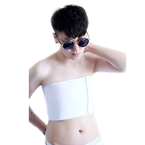 BaronHong Tomboy Trans Lesbian Strapless Plus Size Pecho Binder Top con 20 CM Banda elástica