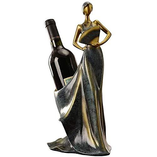 YIBOKANG Titular de la botella de vino Decoración de la mesa de la cocina Decoraciones del interior de la casa Decoraciones del vino Botella de vino Titular de la botella de vino Hogar Copa de vino Ra