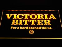 Victoria Bitter Beer Wordmark LED看板 ネオンサイン ライト 電飾 広告用標識 W60cm x H40cm イエロー