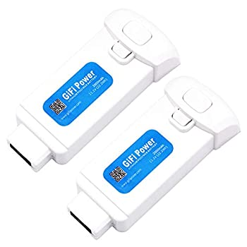 GiFi Power Replacement 11.1V 2000mAh 3S Lipo Battery for Yuneec Breeze 4k Drone  2 Pack
