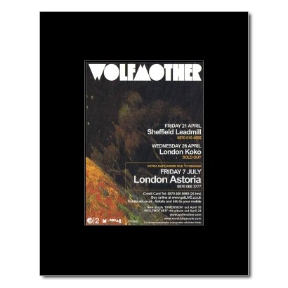 WOLFMOTHER - UK Tour 2006 Matted Mini Poster - 13.5x10cm