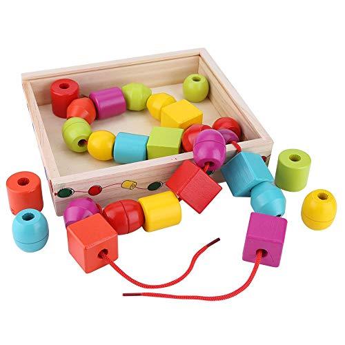 Hztyyier Set di Perline Allacciate Grandi per Bambini, Perline Che stringono Jumbo Perline educative Che mettono Insieme Giocattolo Giocattoli Montessori Giocattoli di autismo per Bambini P