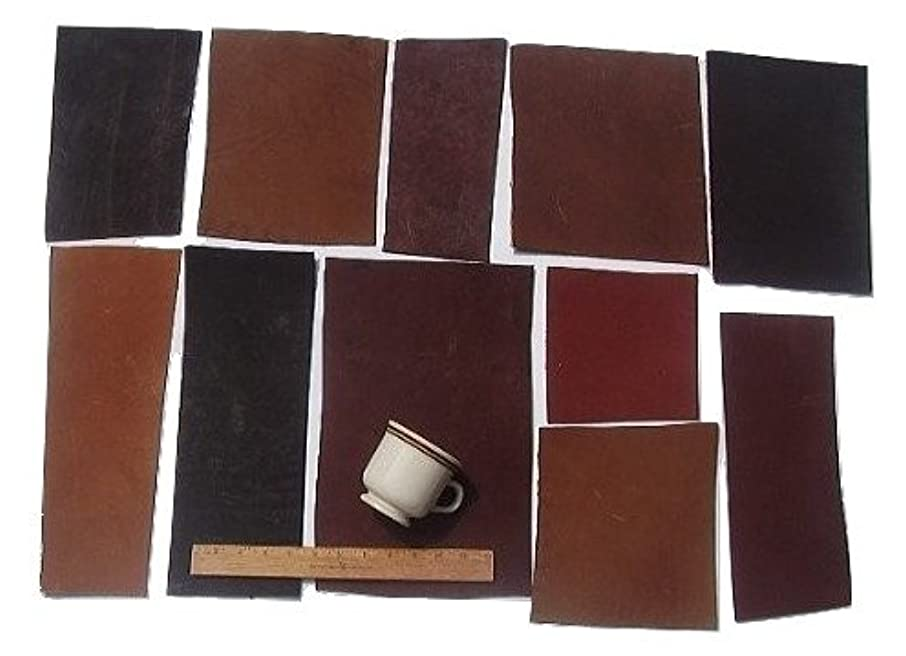 Scrap Lace Leather Cowhide Mixed Rectangular Pieces 4 SF 2 lbs