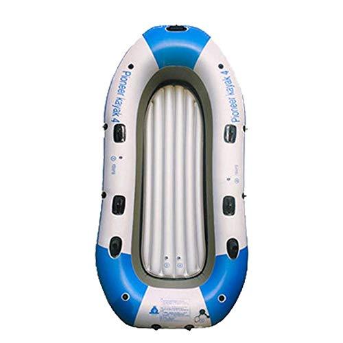 LLSZ Pesca en Kayak, Touring Inflable, Pescador, Barco pesquero rápida Incluye el Viaje de Paddle, Puntos de Montaje de Disco Duro, Almacenamiento Bungee, 4 Personas