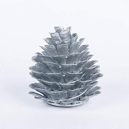 Elektronische produkte kerze kreative led kerze kiefernfrucht kerzenlicht Halloween dekoration kerzenhalter lampe silber basis 6,7 * 10,5 cm