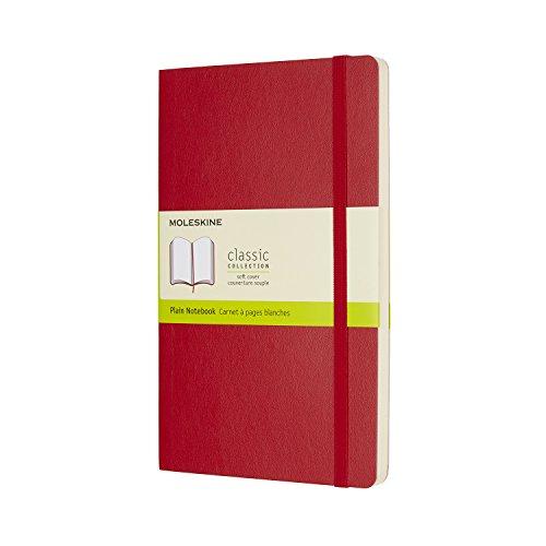 モレスキン ノート クラシック ノートブック ソフトカバー 無地 ラージサイズ スカーレットレッド QP618F2