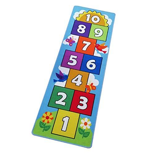 W.zz Spielteppich Kinderteppich Spielzeug Teppich Matte Kinderzimmer Babyteppich Mit Hüpfspiel Teppich Für Jungen Mädchen Kinder Baby Teppich Wohnzimmer Dekor,0.66MX1.4M