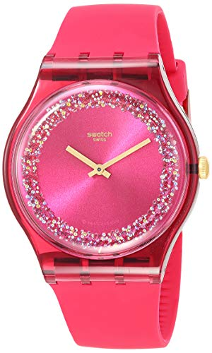 Swatch Essentials Quartz Silicone Strap, Pink, 18 Casual Watch (Model: SUOP111)