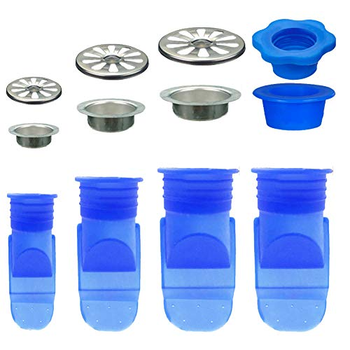 4PCS Sewer Deodorant Floor Drain Core Silicone Core Mosquito Repellent Device, Bathroom Anti-Odor Kitchen Sink Strainer Sewer Deodorant Cover Pipe Sealing Ring (A+B+C+D)
