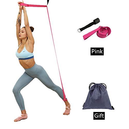 JIMACRO Übungsband Streching Beinspreizer Band, Leg Stretcher Dehnungsband Streching Beinspreizer für Mädchen Frauen Dance Tänzerin und Gymnastik Flexibilität Yoga Training (Pink)