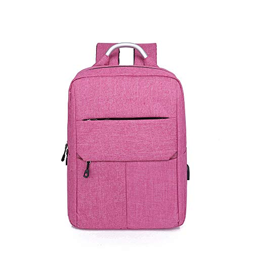 Business Laptop Backpack Waterproof Security College Backpack with USB Charging Port and 15.6 Inch Computer Backpack Oxford Canvas Premium Fabric Men Casual Backpack