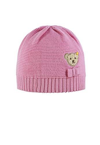 Steiff Baby-Mädchen Strick Mütze, Pink (Prism Pink|Rose 2160), 47