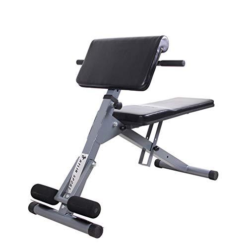 SXX Banco de pesas multifuncional ajustable, plano, banco, inclinación, declinación, ejercicio, para gimnasio en casa, color negro ✅