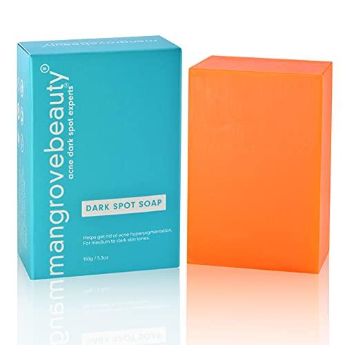 Dark Spot Soap - Natural Dark Spot Remover For Face and Body, Fades Acne Scars, Hyperpigmentation, Evens and Brightens Skin Tone, for Medium to Dark Skin Tones, Normal Skin, 5.3 oz