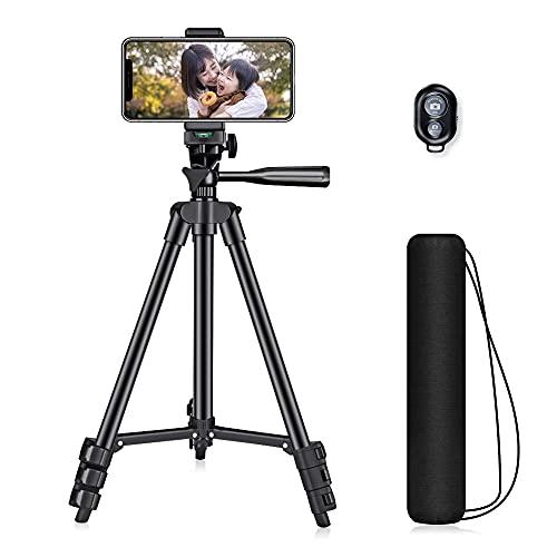 限定600円off最新 高稳定性 三脚 スマホ三脚 3WAY雲台 4段階伸縮 360°回転可能 ビデオカメラ三脚 軽量 持ち運びに便利 iphone android 対応 Bluetoothリモコン付き 1年