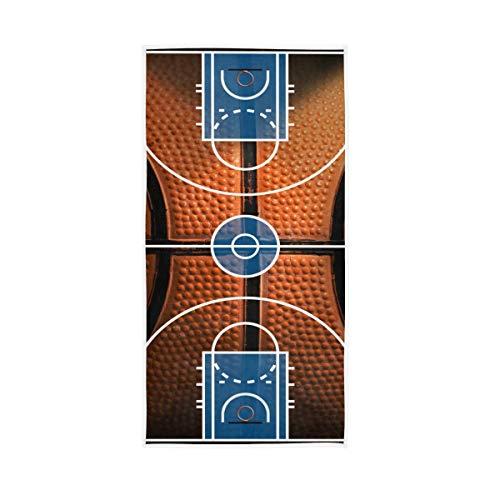 Dekorative Basketball Skin Court kühle weiche Groß für Badezimmer Home Hotel Fitnessraum Spa-Badetücher Hand hoch absorbierend 30x15 Zoll Guest Multi Cup