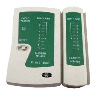 rhinocables RJ45 Ethernet-Kabel-Prüfungs-Prüfvorrichtung-Test-Werkzeug für Cat5 Cat5e Cat 6 mit Remote-Tester