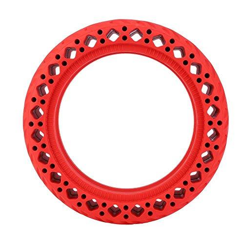 WYDM Neumático para Scooter, neumático prismático de Goma de 8,5 Pulgadas, neumático antichoque para Accesorios de Scooter eléctrico M365 (Rojo)