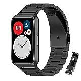 MIJOBS Correas Compatible para Huawei Watch Fit Correa de Acero Inoxidable Ajustable de Reloj para...