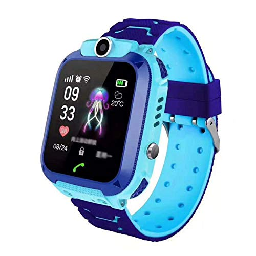HD Touchscreen IP67 wasserdichte Kinder Smartwatch LBS Location Monitor SOS Sprachanruf mit Kamera (Blau)