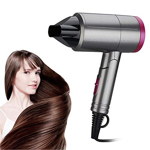 B&H-ERX Mini Folding Hair Dryer - Radiation Free Ionic Infrared Ceramic Low Noise Compact Blow Dryer Best for Pregnancy Kids Use(Upgrade)