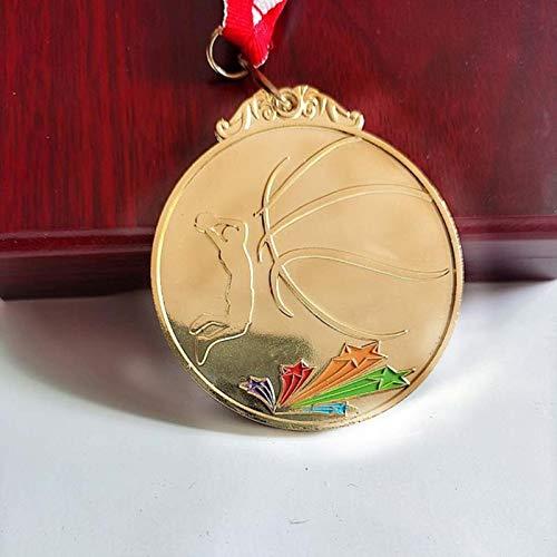 Eeng ColorMetal Medalla Match Medallas Insignias Recuerdos Baloncesto Deportes Medalla de Oro conCintaDunk es Guapo