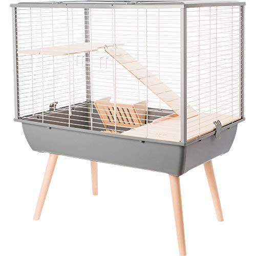 Zolux Cage Neo Muki Grand Rongeur L 77.5 X P 47.5 X H 87.5 Cm Grise