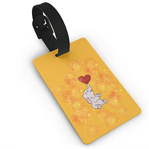 Dumbo Orange Luggage Tag Adjustable Strap Bag Baggage Name,Accessories Tags for Tourists