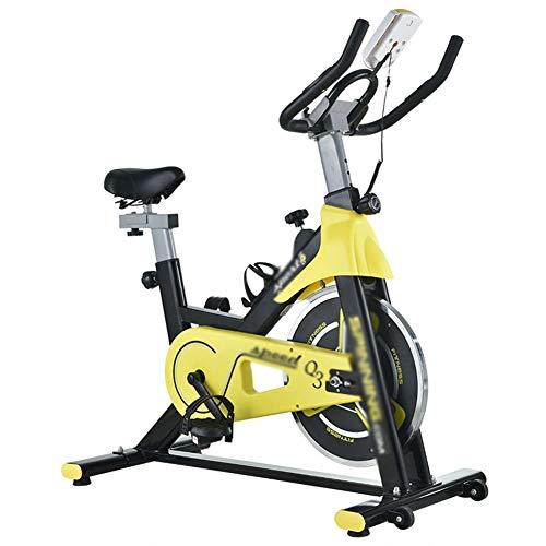 ALGWXQ Ciclo Indoor Profesional, Spinning Tasa de Sensores La Bici con Múltiples Funciones del Monitor del Corazón, Cardio Fitness Entrenamiento Máquina Bajar Peso Body Sculpting Bicicleta Estática