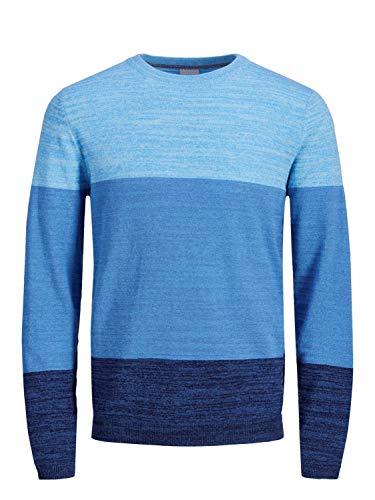JACK&JONES - con Estampado Color Block Jersey DE Punto - XXL, Azul