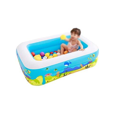 Natación del niño de baño piscina, rectangular espesado resistente al desgaste Piscina Jardín, B, al aire libre juega la bola de piscina piscina Family Water Park (Color: B, tamaño: 115 * 85 * 35 cm)
