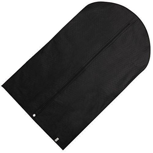 Hangerworld - 6 Custodie porta abiti in tessuto traspirante nero 100 cm