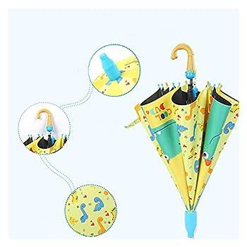 Parapluie pour enfants Enfants Dessin animé Dinosaure & Girafe & Grenouille Parapluie Full-Automatique Garçons Long-Garçons Filles Enfants Parasols Animals YS302 Extérieur ( Color : Yellow dinosaur )
