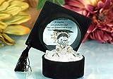 Adornos de cristal de graduación con diseño de oso de peluche, regalo de felicitación, mensaje de recuerdo único, caja de regalo con poema | Graduación para celebraciones de grado universitario