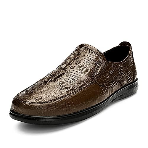 Los hombres Retro Clásico Formal Zapatos De Encaje Cómodo Transpirable Moda Todo Partido Zapatos De Boda Casual Formal Negocio Zapatos De Cuero 2185, Marrón, 40 EU