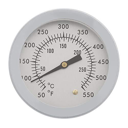 50~550 ℉ Barbacoa Termómetro BBQ Carbón de leña Parrilla de gas Horno Calibrador de temperatura de cocción Dial analógico Doble escala