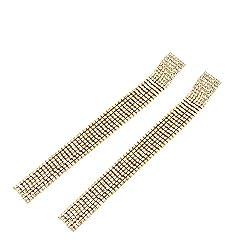 Gold Crystal Tassel Drop Ringe Dangle Earring